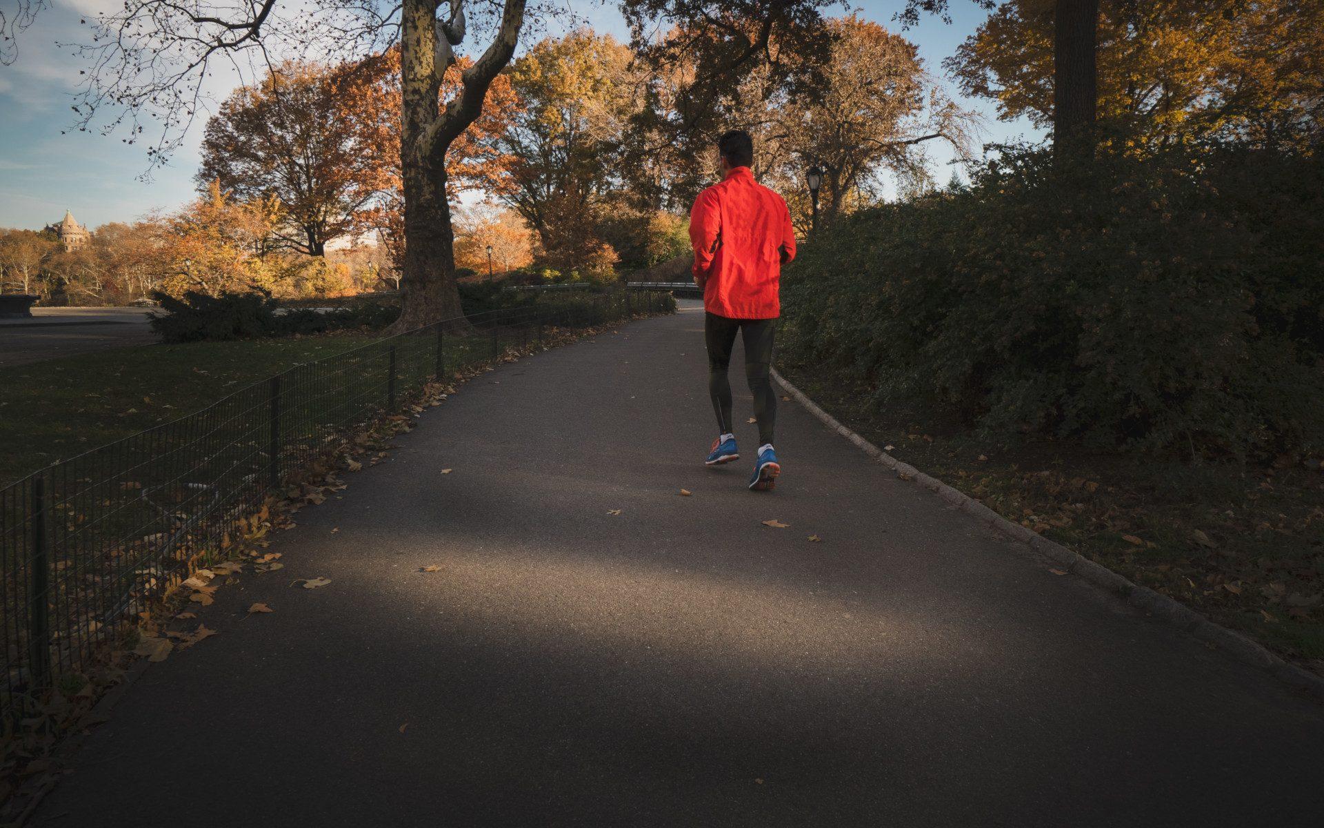 Person Jogging near park